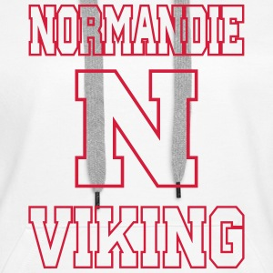 Sweat Normandie Viking for girls face - Sweat-shirt à capuche Premium pour femmes