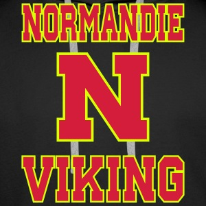 Sweat Normandie Viking for men face - Sweat-shirt à capuche Premium pour hommes
