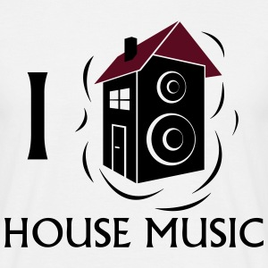 I love House Music T-skjorter - T-skjorte for menn