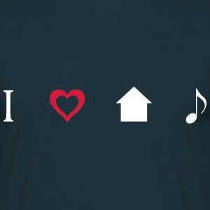 I love House Music Icons T-Shirts - Men's T-Shirt