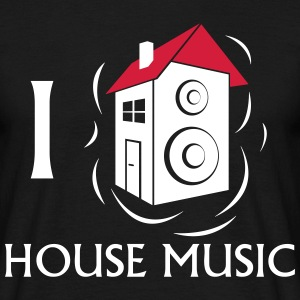 I love House Music T-shirts - Mannen T-shirt
