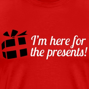 I'm here for the presents T-shirts - Herre premium T-shirt