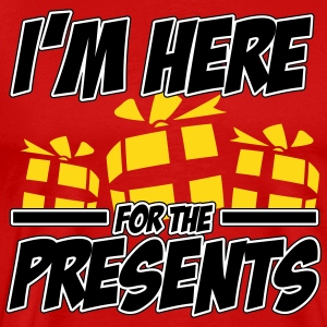 I'm here for the presents T-skjorter - Premium T-skjorte for menn