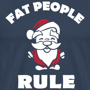Fat people rule T-shirts - Herre premium T-shirt