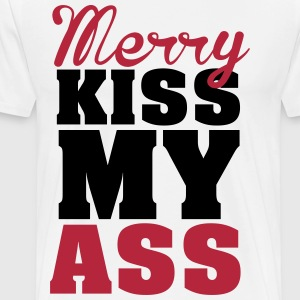 Merry kiss my ass T-skjorter - Premium T-skjorte for menn