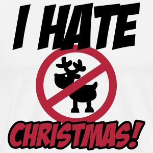 I hate Christmas T-shirts - Herre premium T-shirt