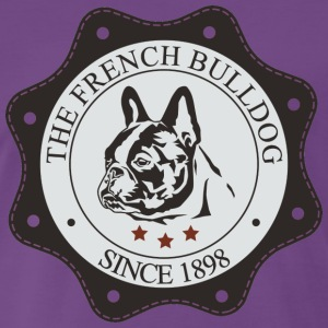 French Bulldog Button T-Shirts - Männer Premium T-Shirt