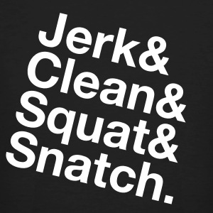 Jerk, Clean, Squat, Snatch T-shirts - Mannen Bio-T-shirt