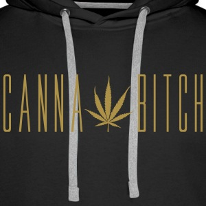GOLDEN CANNABITCH | Sweat-shirt - Sweat-shirt à capuche Premium pour hommes