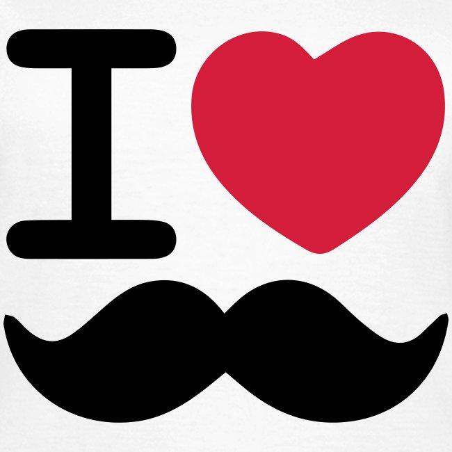 I Love Moustaches - Women's tshirt for Movember
