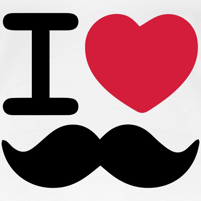 I Love Moustaches - Up to 3XL Women's tshirt for Movember