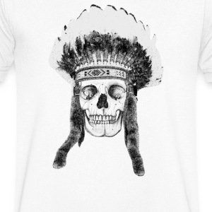 skull indian headdress Tee shirts - T-shirt Homme col V