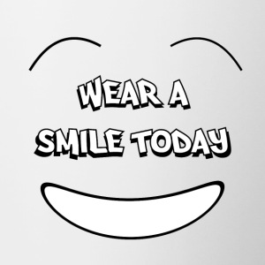 Wear a smile today Bottiglie e tazze - Tazze bicolor