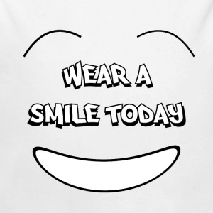 Wear a smile today Sweats - Body bébé bio manches longues