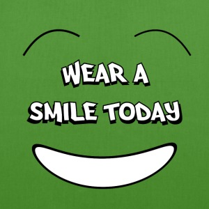 Wear a smile today Bags & backpacks - EarthPositive Tote Bag