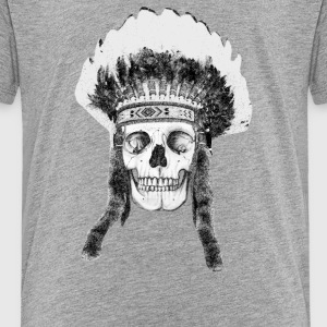 skull indian headdress T-Shirts - Kinder Premium T-Shirt