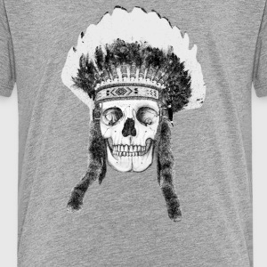 skull indian headdress T-Shirts - Teenager Premium T-Shirt