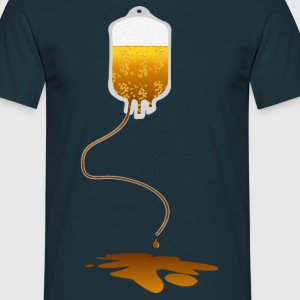 leaking blood bag with beer  T-Shirts - Men's T-Shirt