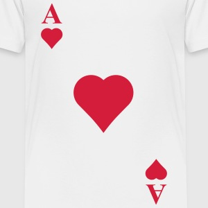 Ace of hearts Shirts - Kids' Premium T-Shirt