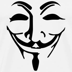 Anonymous mask fawkes T-Shirts - Men's Premium T-Shirt