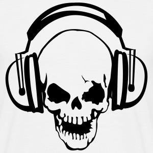 Skull with headphones  T-Shirts - Men's T-Shirt