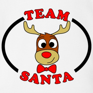rentier male team santa T-Shirts - Baby Bio-Kurzarm-Body