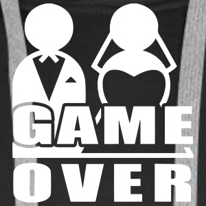 Game Over - Marriage Hoodies & Sweatshirts - Men's Premium Hoodie