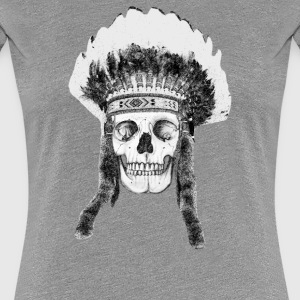 skull indian headdress - skalle T-shirts - Premium-T-shirt dam