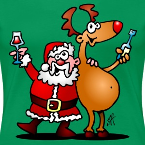 Santa Claus and his reindeer T-Shirts - Women's Premium T-Shirt
