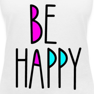 Be Happy T-Shirts - Women's V-Neck T-Shirt