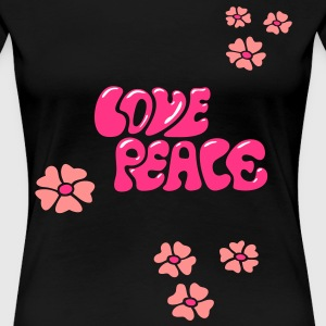Flower Power Blumen Blume Hippie T-Shirt - Frauen Premium T-Shirt