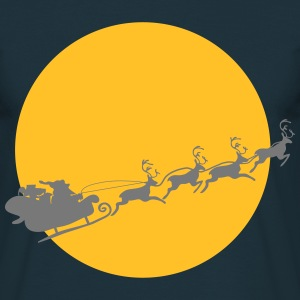 Santa på en Full Moon T-shirts - Herre-T-shirt