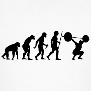 Evolution - Squat T-Shirts - Männer Bio-T-Shirt