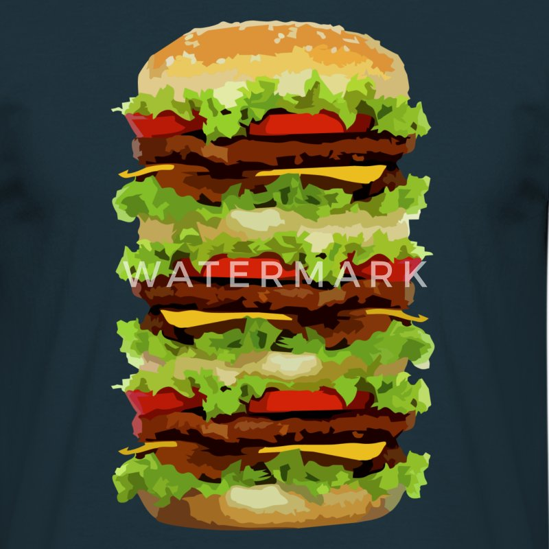 XXL Hamburger T-shirts - Mannen T-shirt