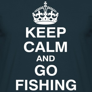 KEPP CALM and GO FISHING T-Shirts - Männer T-Shirt