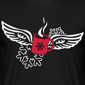 Glühweintasse with angel wings  T-Shirts - Men's T-Shirt