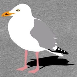 seagull gull bird harbour sailing ocean sea ship  T-Shirts - Women's Premium T-Shirt