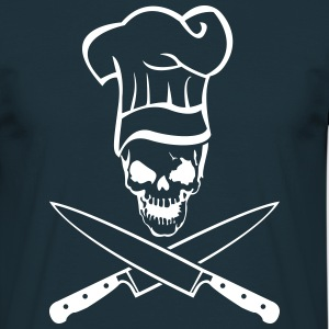 Skull with chef hat and knife  T-Shirts - Men's T-Shirt