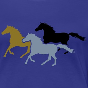 Herd of Galloping Horses T-Shirts - Frauen Premium T-Shirt