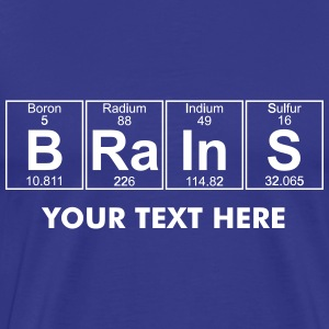 B-Ra-In-S (brains) - Full T-Shirts - Men's Premium T-Shirt