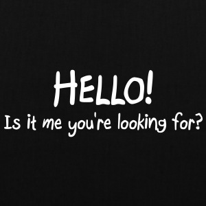 hello is it me you are looking for Bags & Backpacks - Tote Bag