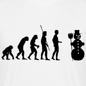 Snemand Evolution  T-shirts - Herre-T-shirt