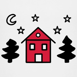 House fir moon starry sky - V2 Shirts - Teenage Premium T-Shirt