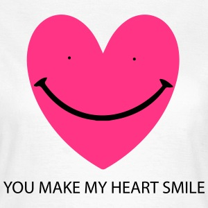 Heart Smile T-shirts - Dame-T-shirt