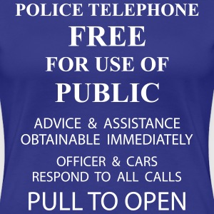 police box text T-Shirts - Women's Premium T-Shirt