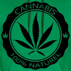 cannabis_100_naturel Sweat-shirts - Sweat-shirt à capuche Premium pour hommes