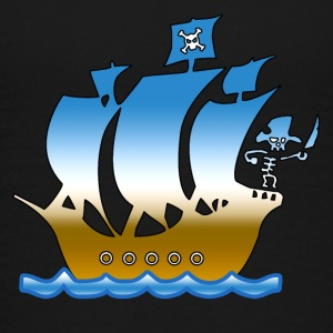 piratskib multicolor 1 T-shirts - Børne premium T-shirt