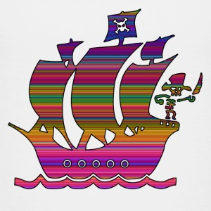piratskib multicolor 3 T-shirts - Børne premium T-shirt