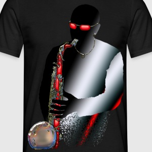 Red Saxophone Man.png Tee shirts - T-shirt Homme