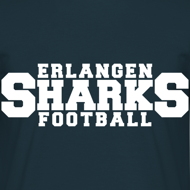 Old School Football T-Shirt (m, navy/weiß/rot)